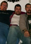 Steve on left, Matthew in middle, Lee on right