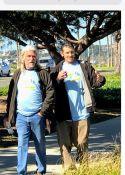 Alan and Gabriel walking the Jodi House walk ❤️